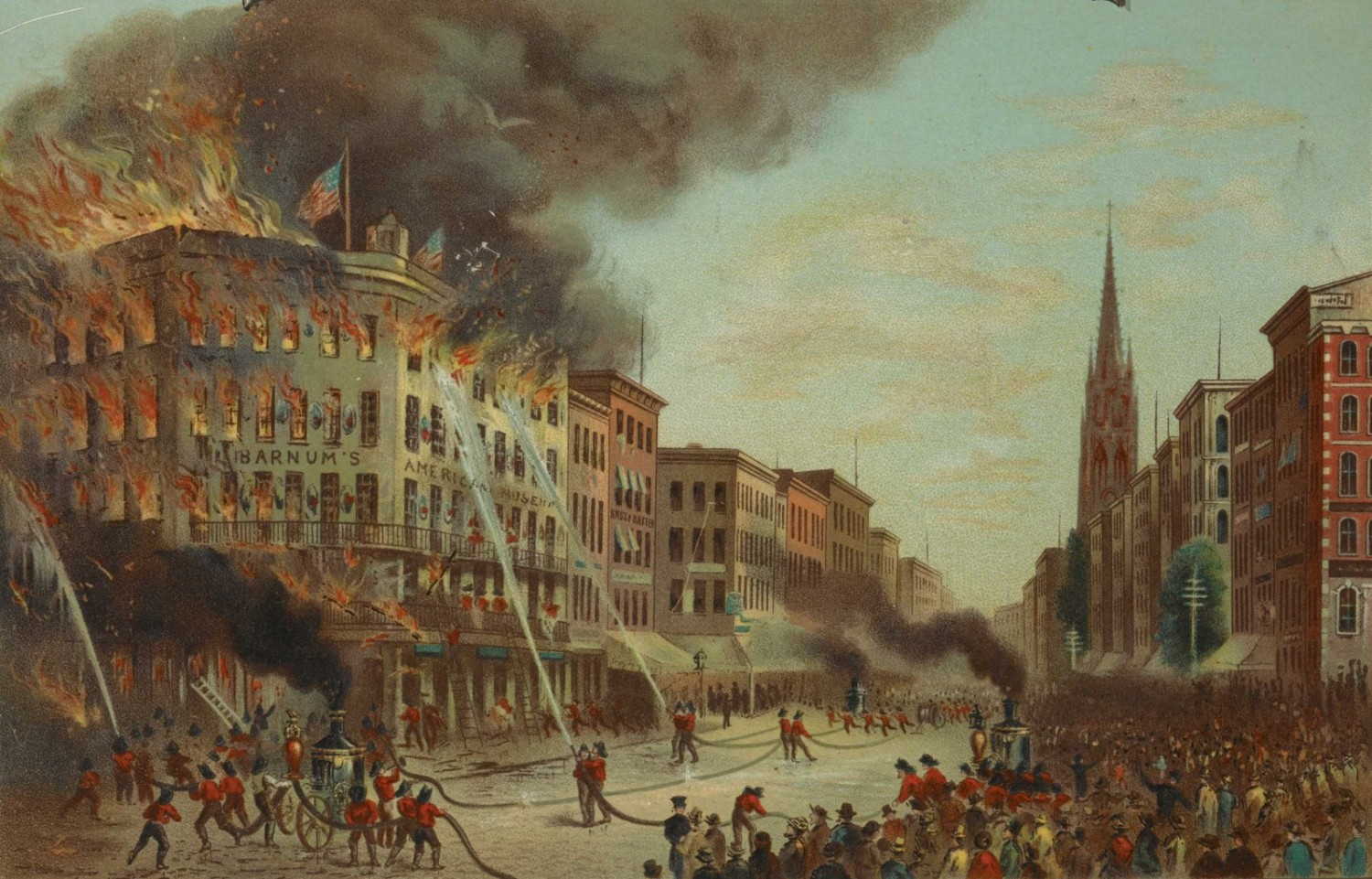 Burning of Barnum's Museum