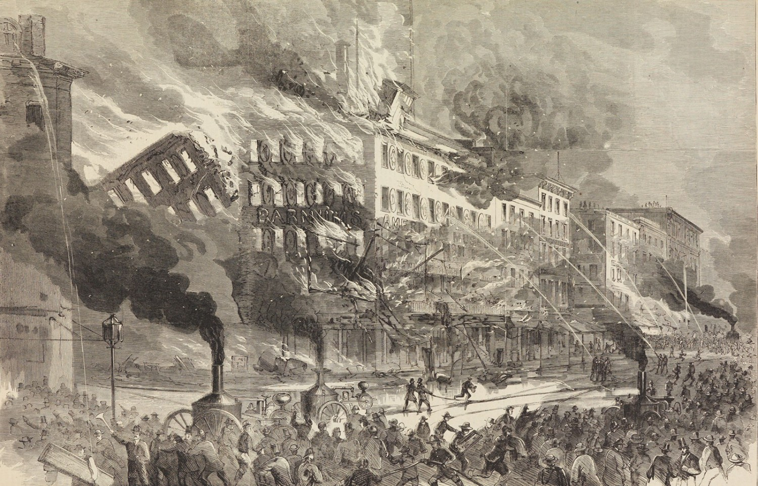 The Destruction By Fire Of Barnum's American Museum
